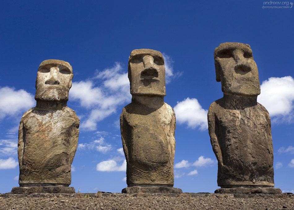 Археологи определили, как появились каменные шляпы на статуях острова Пасхи